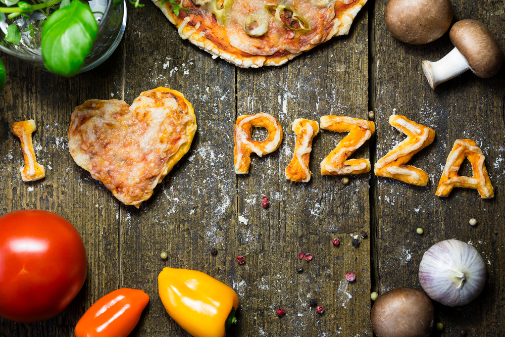 I love pizza words